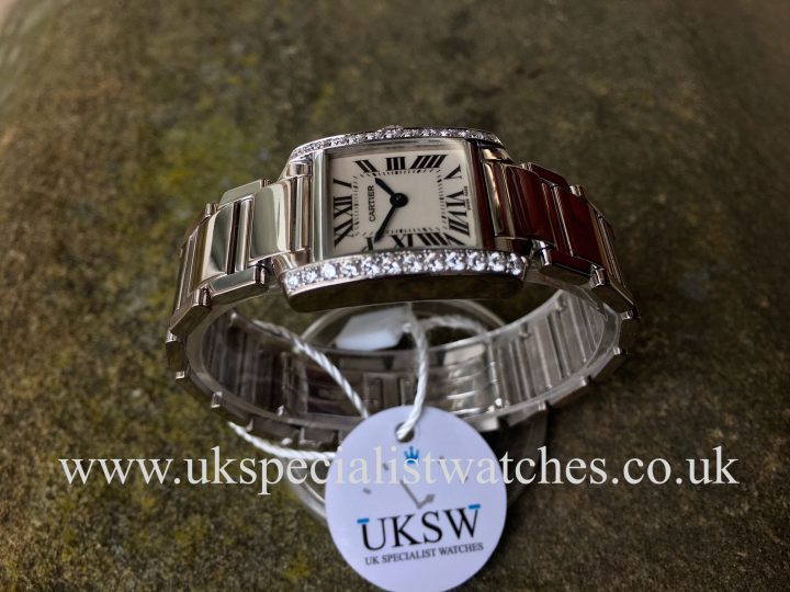 UK Specialist Watches have a white Gold Cartier Tank Francaise diamond set - 2403