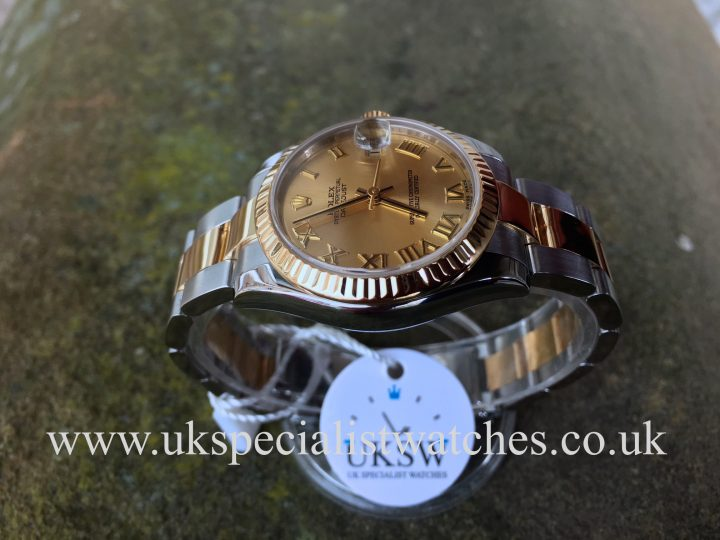UK Specialist Watches have a Rolex Datejust Steel & 18ct Yellow Gold - 31mm MidSize.