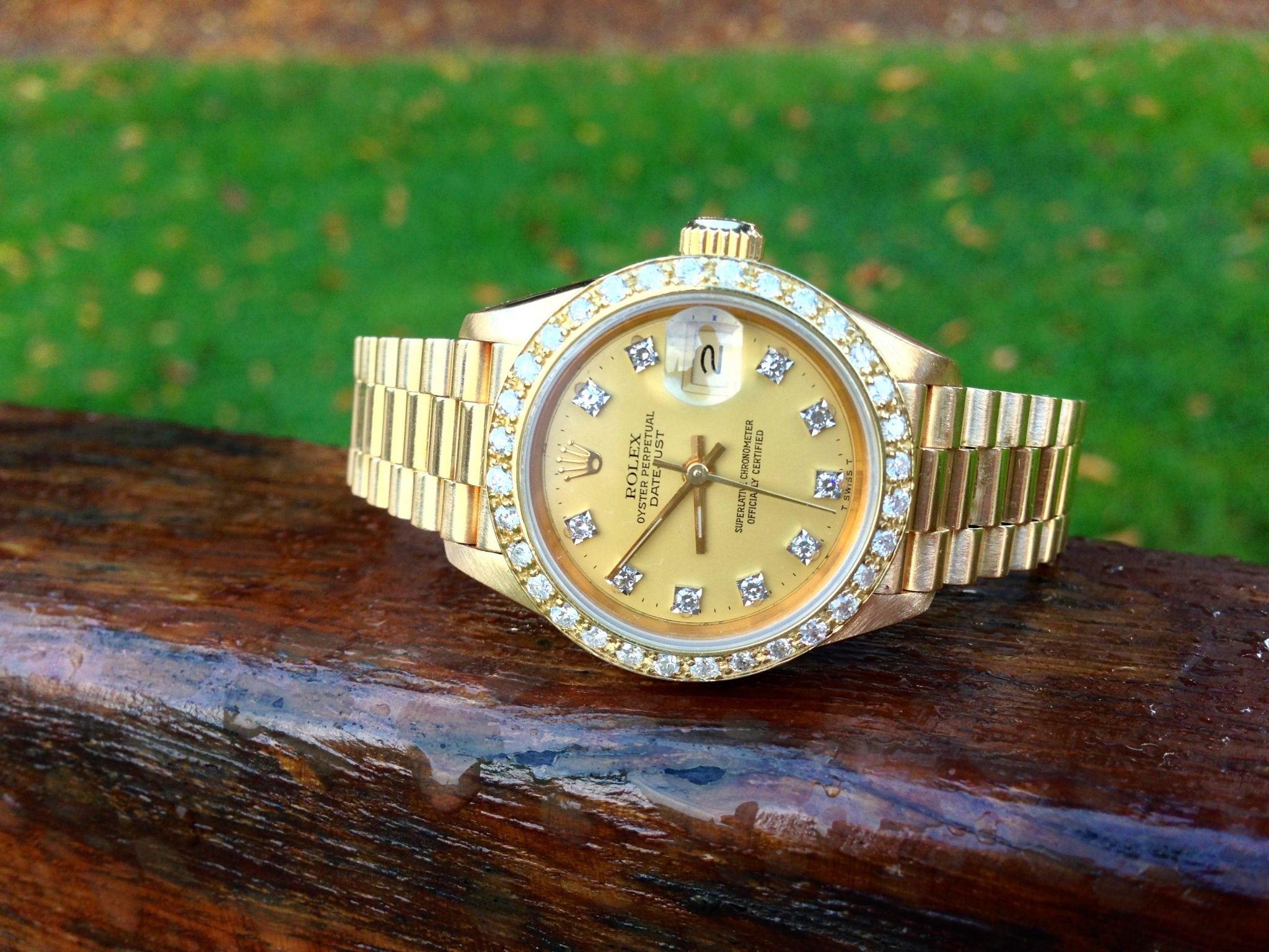 Rolex Lady Datejust president Diamond bezel - 69178