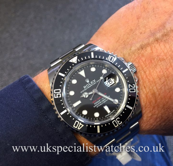 UK Specialist Watches have a new model 2017 Rolex Sea-Dweller red writing - 126600