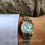 Rolex Ladies Datejust - Steel & 18ct Gold - MOP Diamond Dial - 69173
