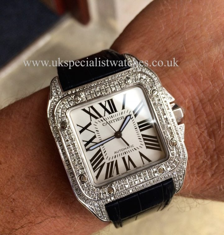 Cartier Santos Diamond Set - Automatic Large size