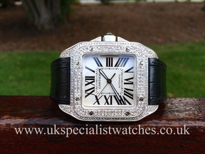 Cartier Santos 100 Diamond Set