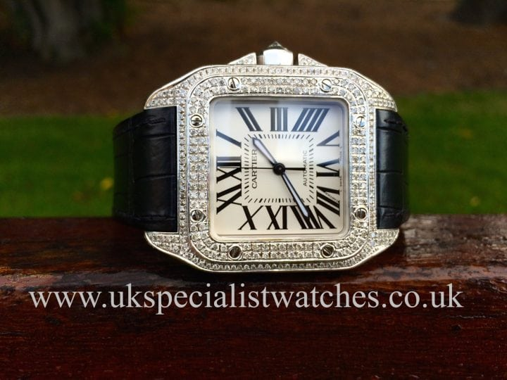Cartier Santos 100 Diamond Set - Automatic Large size