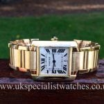 UK Specialist Watches have a stunning Gents Cartier Tank Francaise Automatic 18ct Gold - Ref 1840