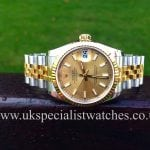 UK Specialist Watches have the Latest Model Mid size Rolex Datejust Gold & Steel 31mm