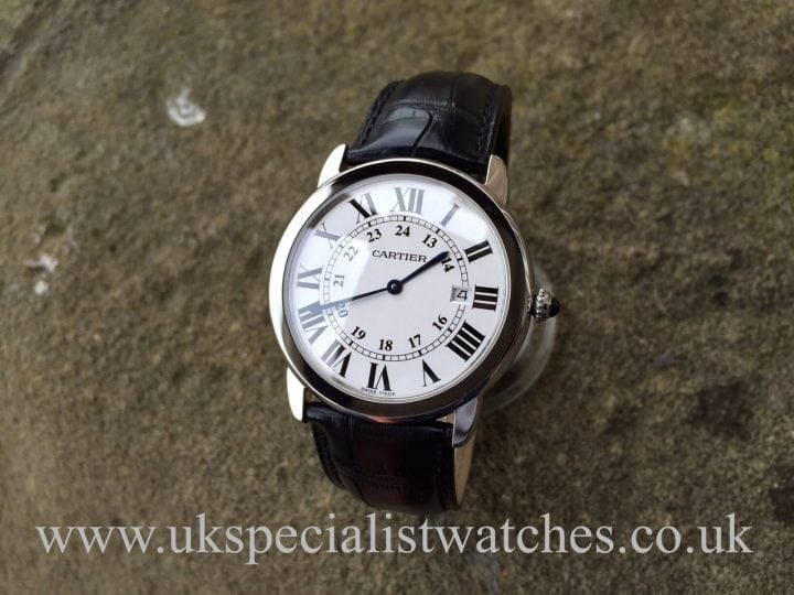 UK Specialist Watches have a simple yet elegant Cartier Ronde Solo W6700255