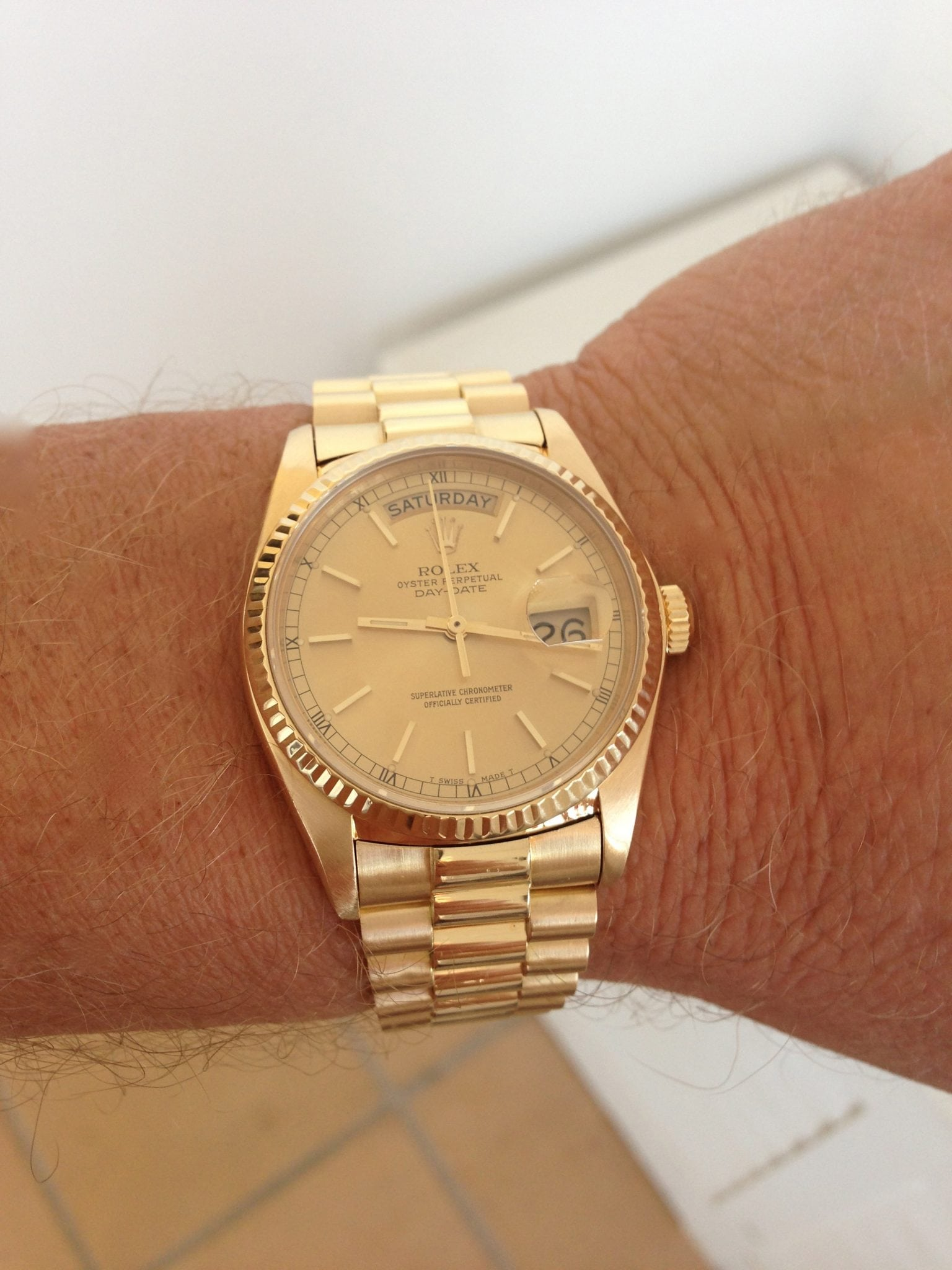 Rolex Day Date President Gents 18ct gold -18238