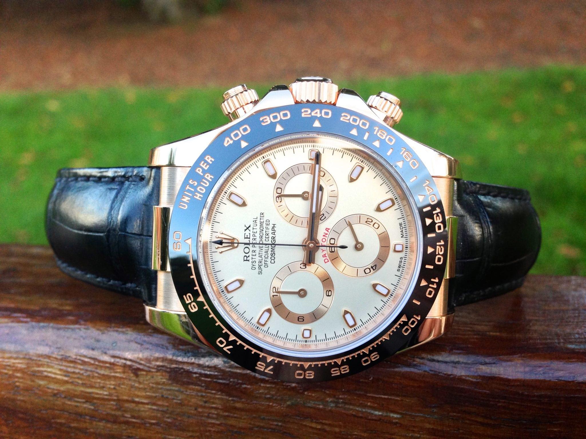 Rolex Daytona rose gold ''ceramic'' ref 116515LN