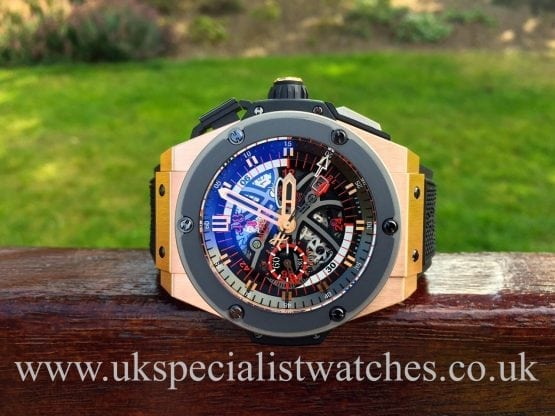 UK Specialist Watches have a Hublot Kingpower 18ct Rose Gold Miami Heat- 748.OM.1123.RX limited to 200 pieces.