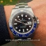 New Unused 2014 Rolex GMT-Master II -116710BLNR Blue Black Bruiser at UK Specialist watches