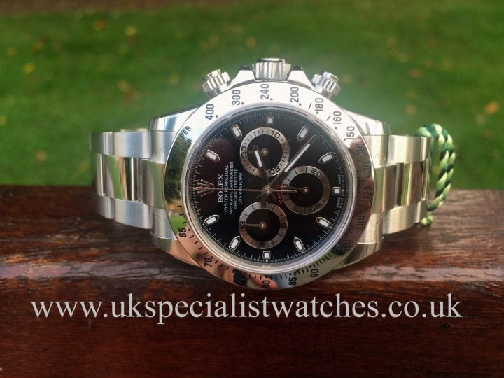 2014 UNUSED Rolex Steel Daytona 116520 for sale at UK Specialist Watches