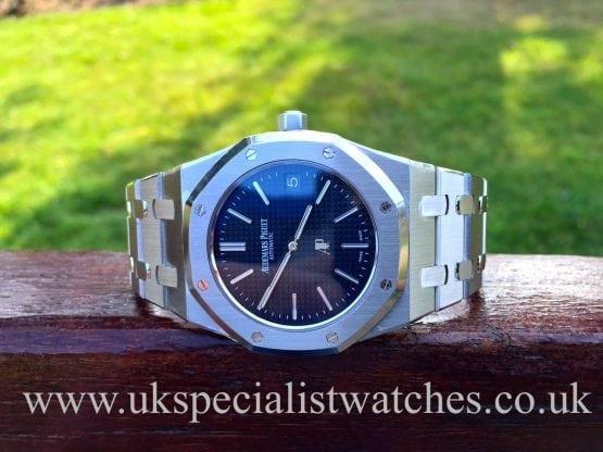 Ultra thin Audemars Piguet Royal Oak with Blue Dial-15202ST.OO.1240ST.01