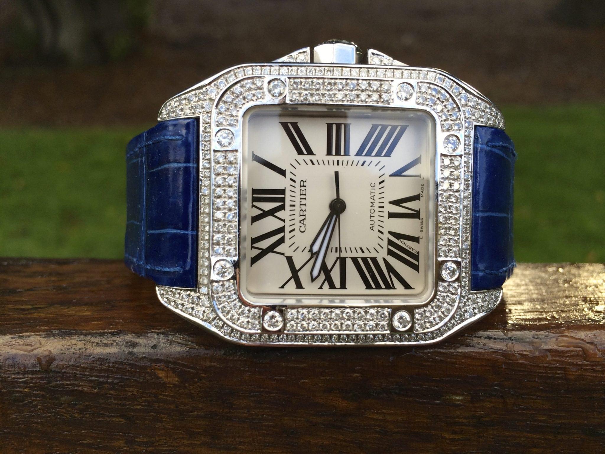 Cartier Santos 100 Large size - Automatic.''Diamond afterset''