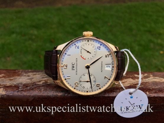 IWC Portuguese 7 Days – 18ct Rose Gold – IW500113
