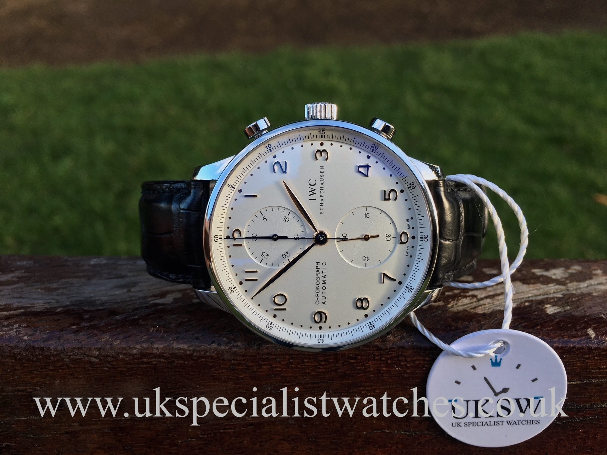 c9e21d2f0250 IWC Portuguese Chronograph - Stainless Steel - IW371445 - UK ...