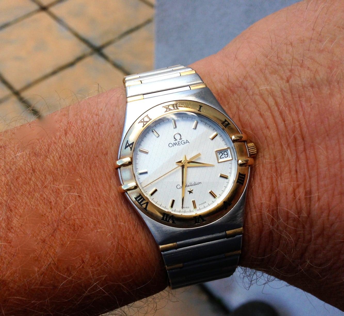 Omega constellation gents bimetal uk specialist watches for Omega watch constellation