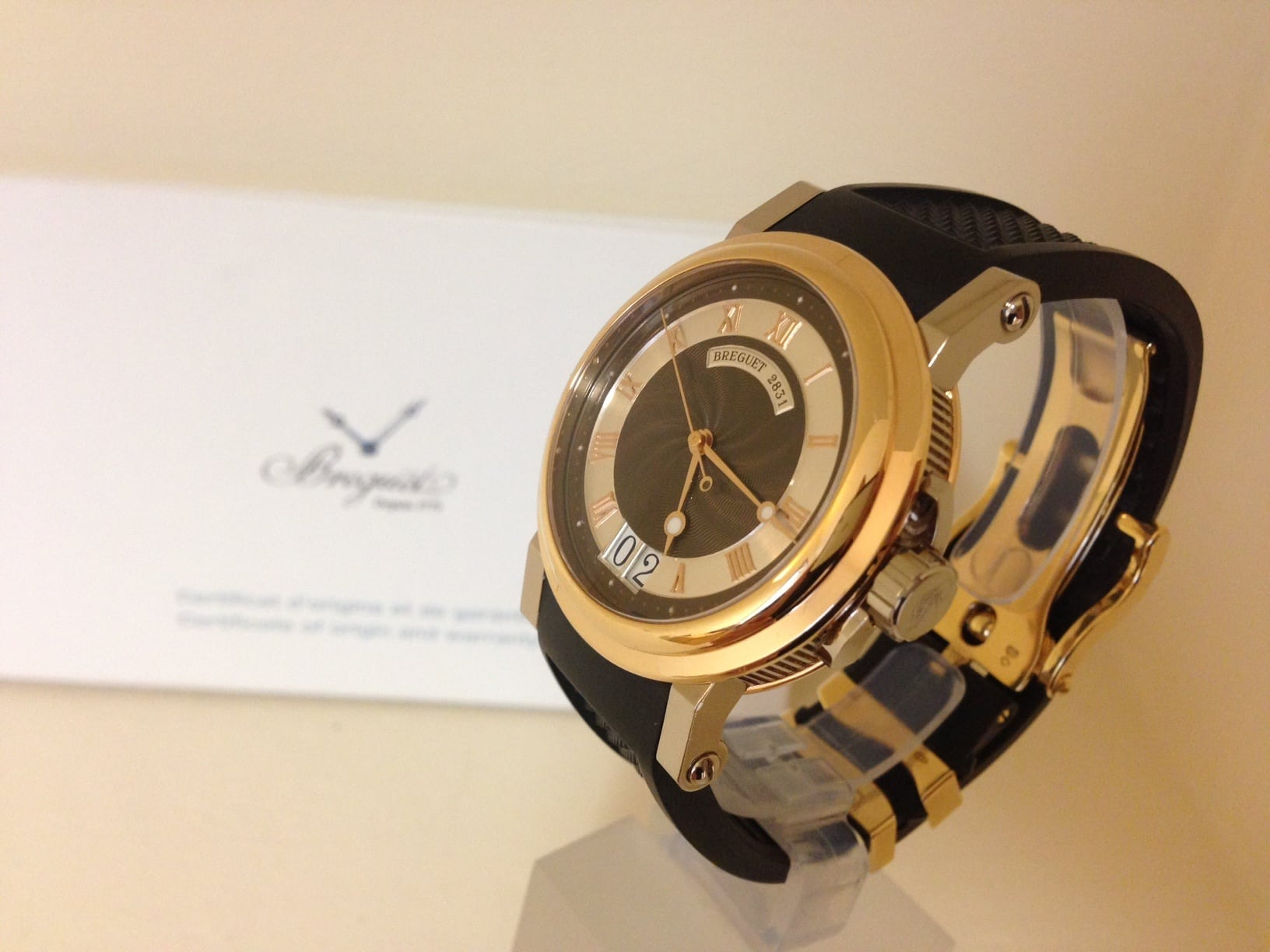Breguet Marine rose/white gold 'big date' ref 5817