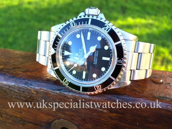 Rolex vintage Submariner 5513 topper dial domed glass