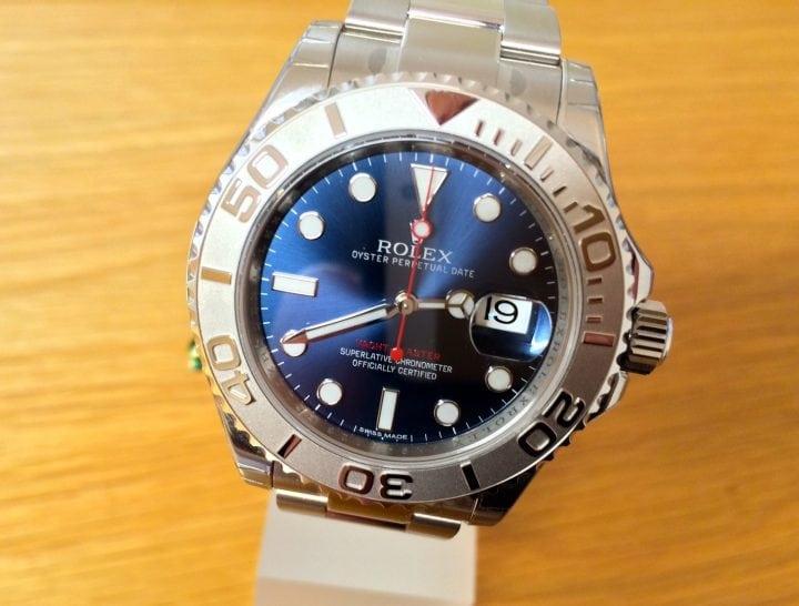 Rolex Yachtmaster Blue dial Platinum bezel - 116622
