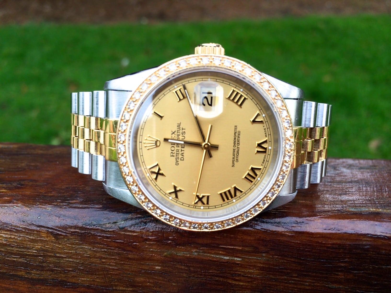 Rolex Date-just Diamond Bezel Gents 16233