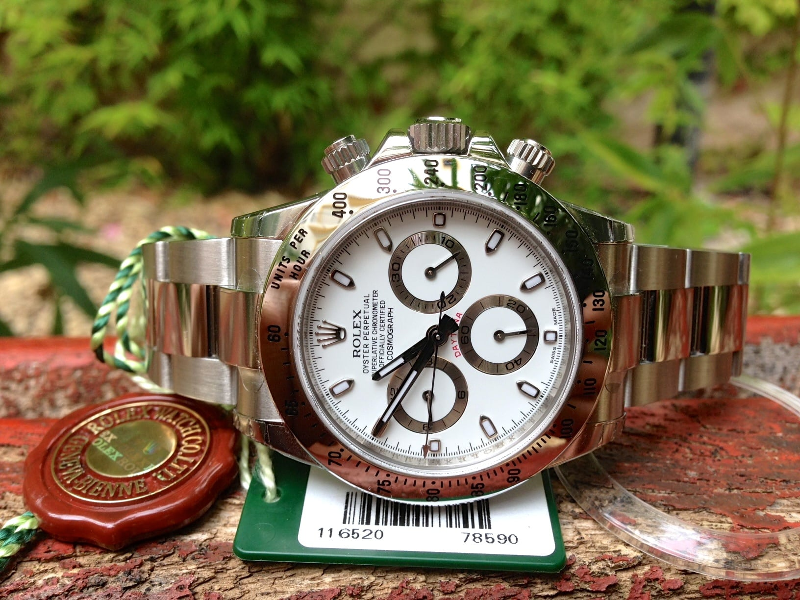 Rolex daytona white dial 116520 New unused with stickers