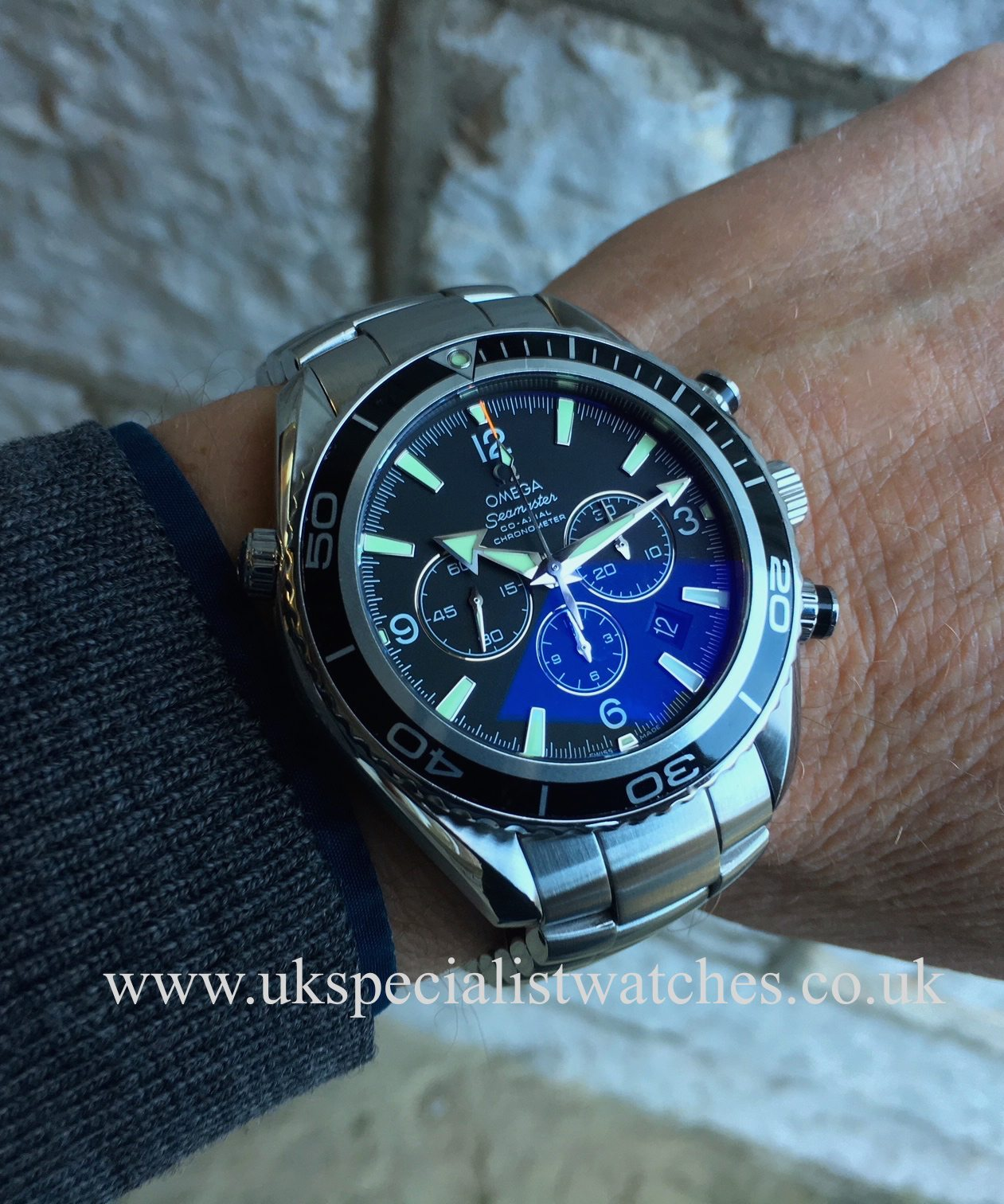 Ladies Rolex Watches Uk >> Omega Seamaster Planet Ocean Chrono – 45.5mm – 2210.50.00 – UK Specialist Watches