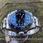 UK Specialist Watches have a Rolex GMT-Master 116710BLNR Blue Black Batman – Bruiser – UNWORN