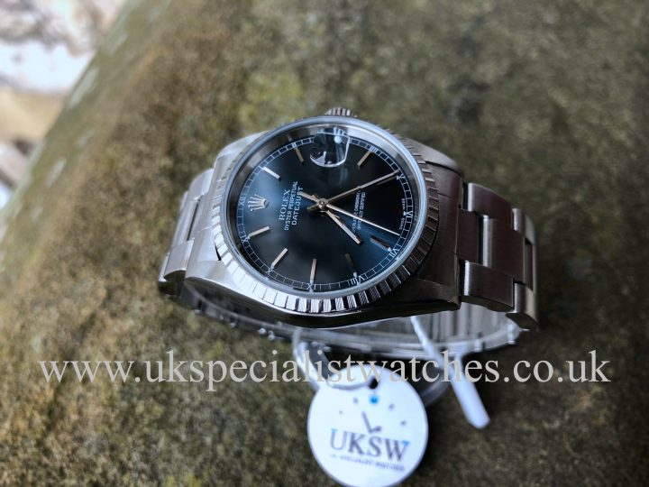 UK Specialist watches have a stunning Rolex Datejust 36mm - Steel - Blue Dial - 16220