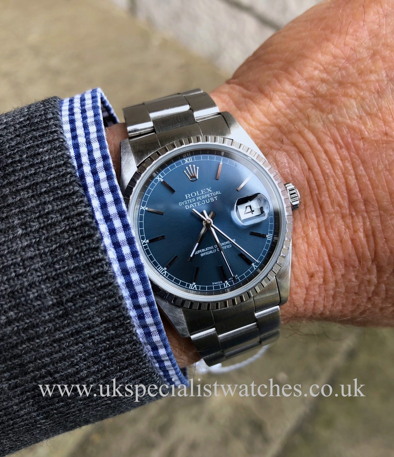 Rolex Datejust 36mm - Steel - Blue Dial - 16220