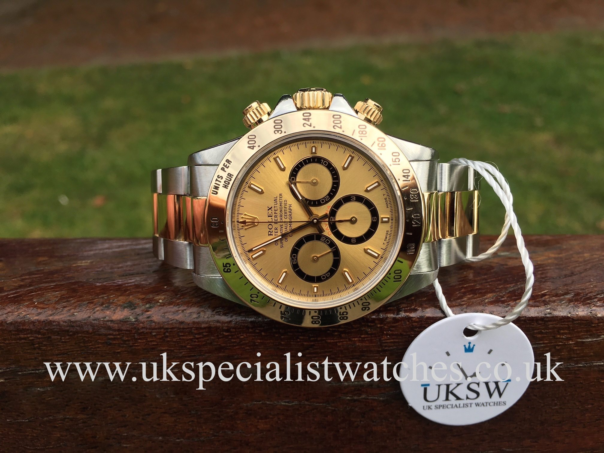 Rolex Daytona Zenith Steel Gold Champagne Dial 16523 Uk