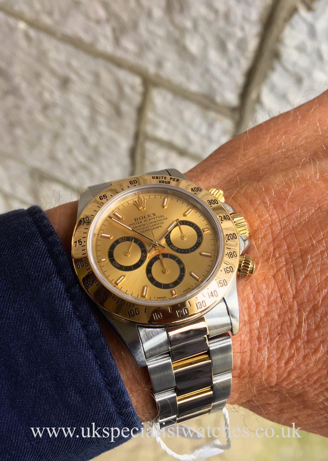 Rolex Daytona Zenith Steel Amp Gold Champagne Dial