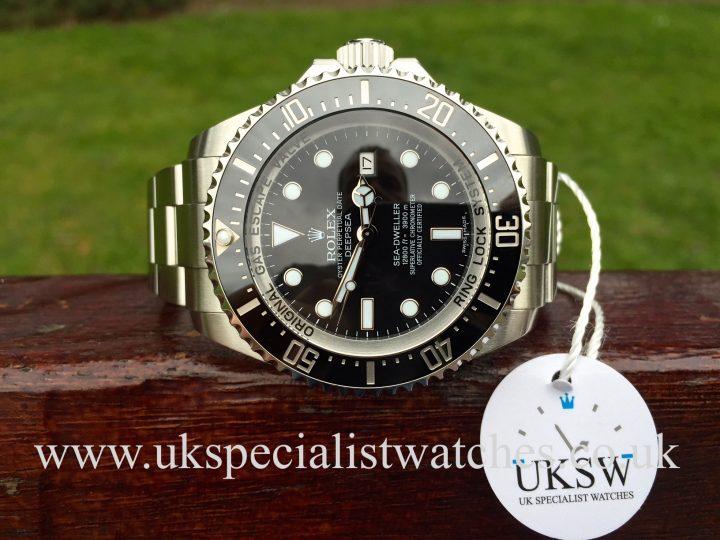UK Specialist Watches have a Rolex DeepSea Sea Dweller – 116660 - Black Dial