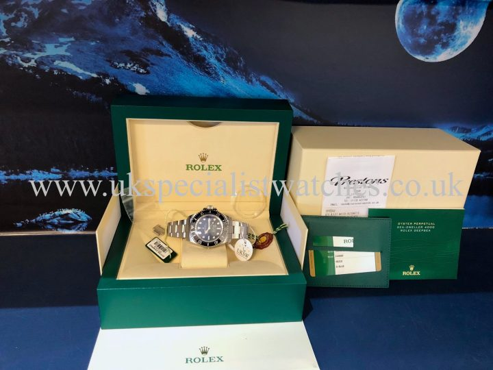UK Specialist Watches have a Rolex Deepsea D-Blue – James Cameron -116660 – Full Set