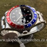 UK Specialist Watches have a Rolex GMT Master II – Pepsi – 16710 – Full Set