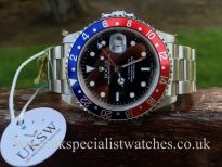 UK Specialist Watches have a completely unworn with stickers, Rolex GMT-Master 16710 Pepsi