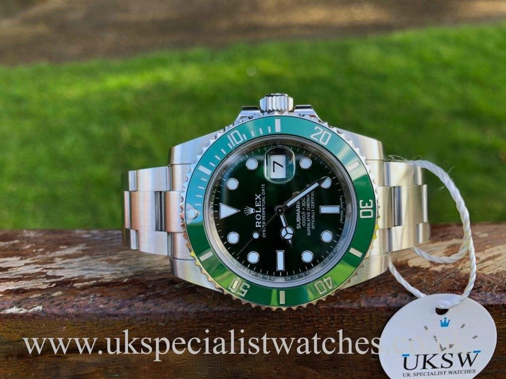 """Rolex Green Submariner """"Hulk"""" – 116610LV – Full Set"""