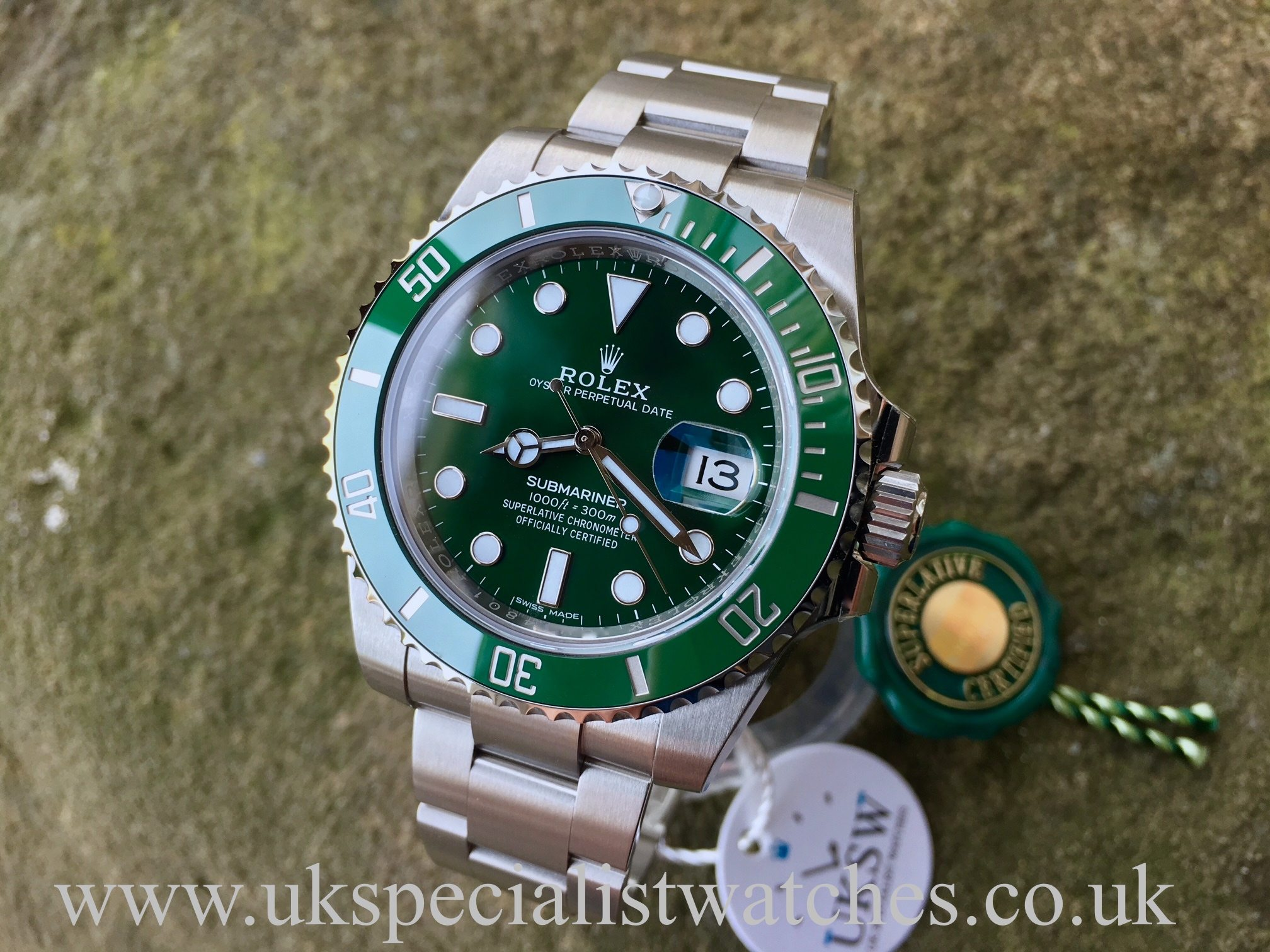 Rolex Green Submariner \u201cHulk\u201d , 116610LV , Full Set