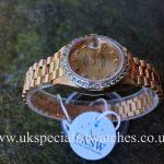 Rolex Lady-Date Just President 18ct Gold-Diamond Bezel - 69178