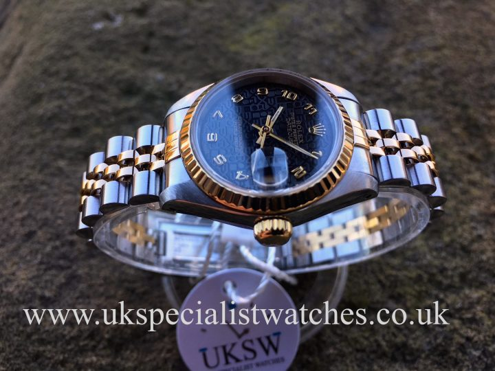olex Datejust ladies 69173 with a black jubilee dial with box and papers.