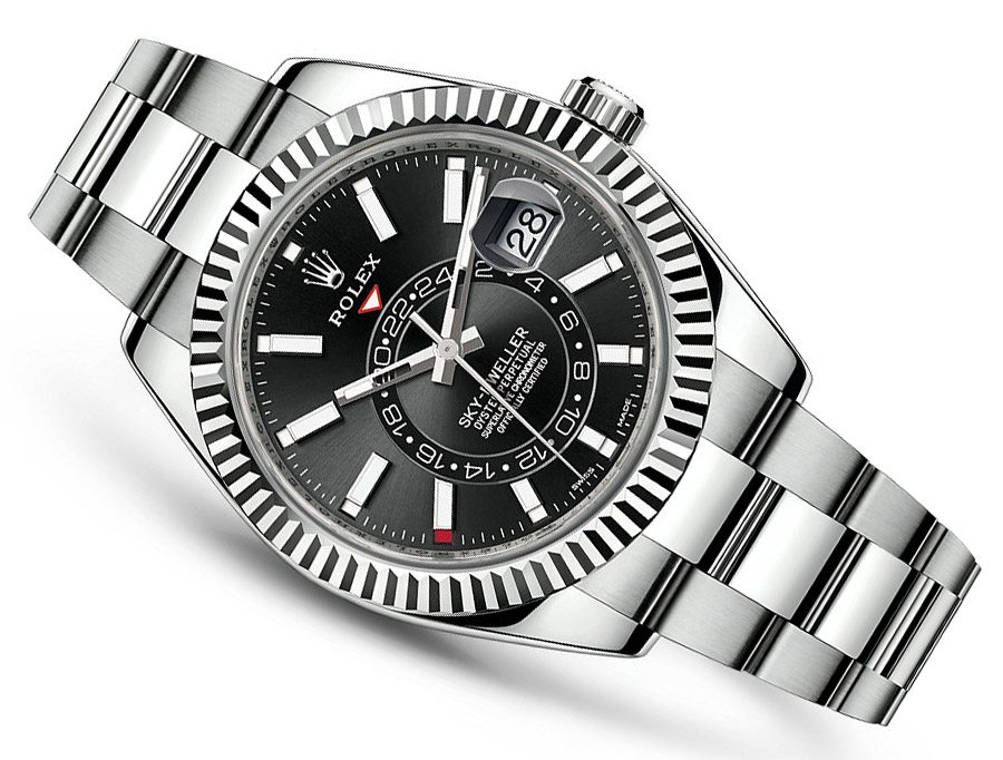 7ac06e10586 2017 Rolex Sky-Dweller Stainless Steel - White   Black Dial - 326934 ...