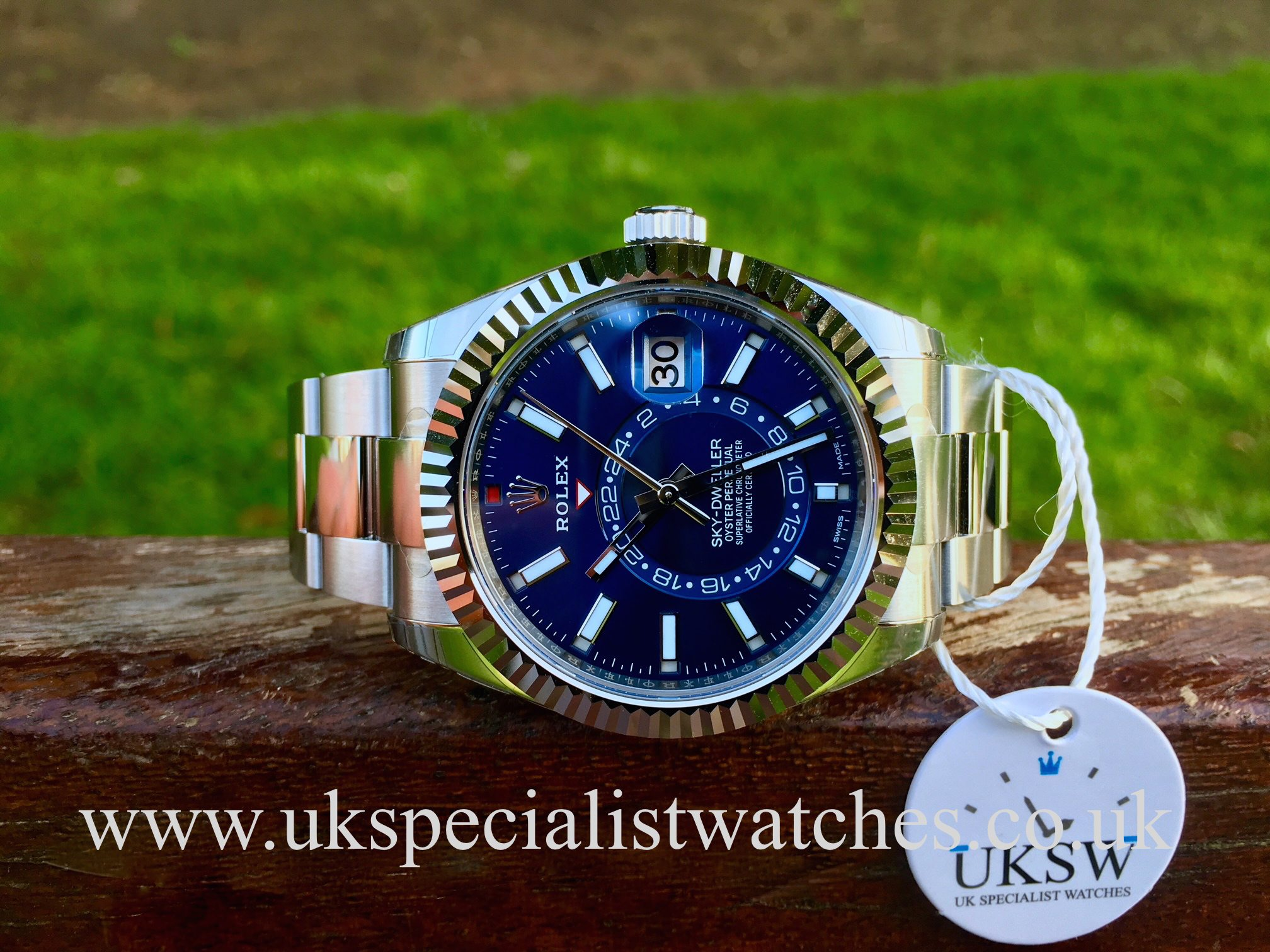 Rolex Sky,Dweller Stainless Steel \u2013 Blue Dial \u2013 326934 , UNUSED