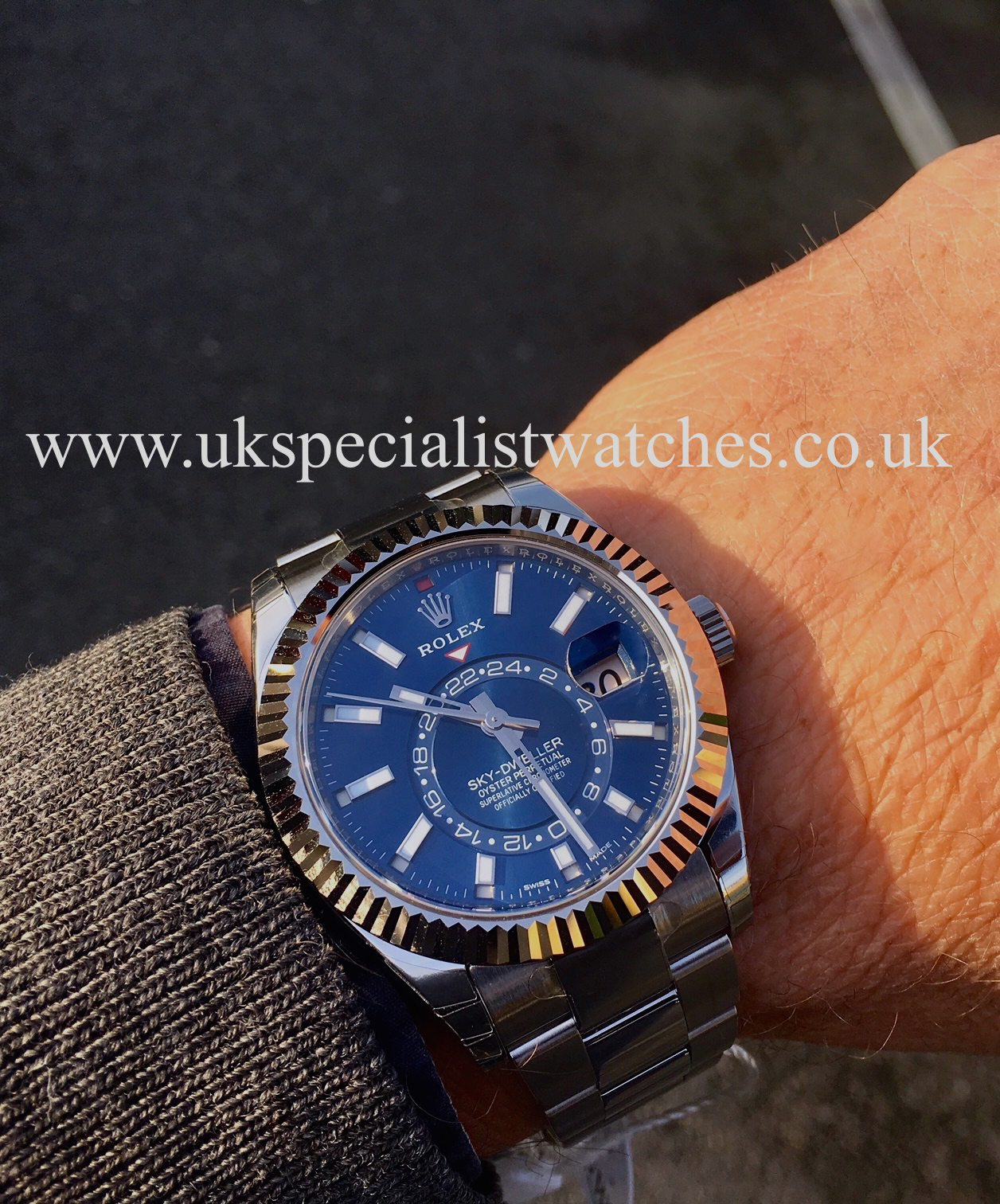 Rolex Sky Dweller Stainless Steel Blue Dial 326934