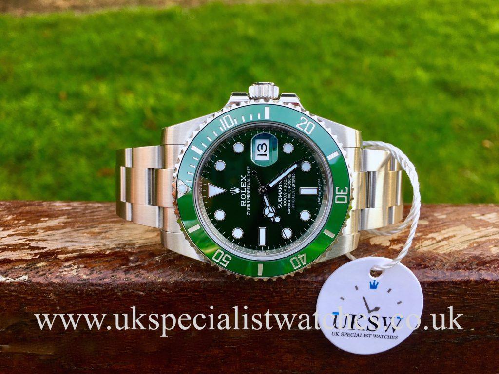 "Rolex Green Submariner ""Hulk"" 116610LV – UNUSED"