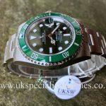 "UK Specialist Watches have a Rolex Green Submariner ""Hulk"" 116610LV – UNUSED"