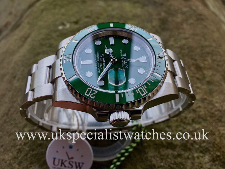 "UK Specialist Watches have a Rolex Green Submariner ""Hulk"" 116610LV – UNUSED"