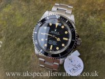 UK Specialist watches have a Rolex Submariner 5513 - SCOC Dial - Vintage 1976