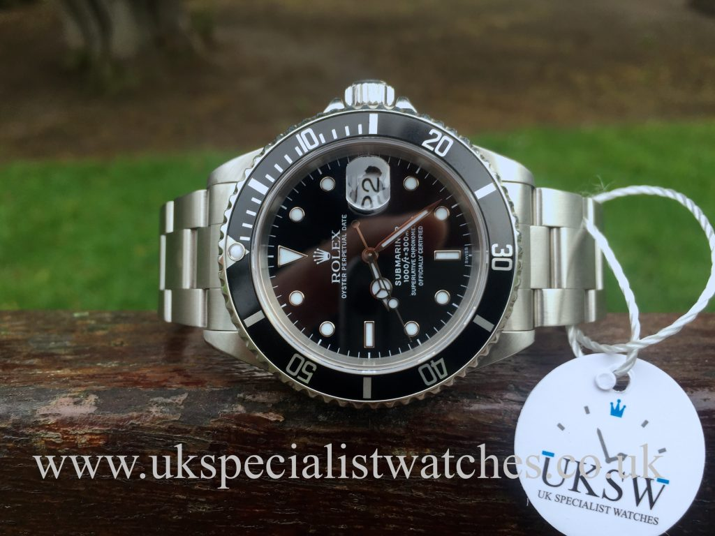 """Rolex Submariner Date – Stainless Steel – 16610  """"SWISS"""" Only Dial"""