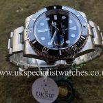 UK Specialist Watches have a Rolex Submariner Date Ceramic Bezel – 116610LN - NEW 2018