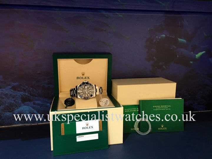 UK Specialist Watches have a Rolex Submariner Date Ceramic Bezel – 116610LN - NEW 2018